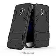 Cocomii Iron Man Armor Galaxy J2 Pro 2018/Grand Prime Pro Case NEW [Heavy Duty] Premium Tactical Grip Kickstand Shockproof Hard Bumper Shell [Military Defender] Full Body Dual Layer Rugged Cover for Samsung Galaxy J2 Pro 2018 (I.Jet Black)