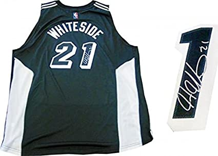 a8898d10784 Image Unavailable. Image not available for. Color  Hassan Whiteside Signed  Jersey - Miami Heat Tuxedo Swingman - Autographed NBA Jerseys
