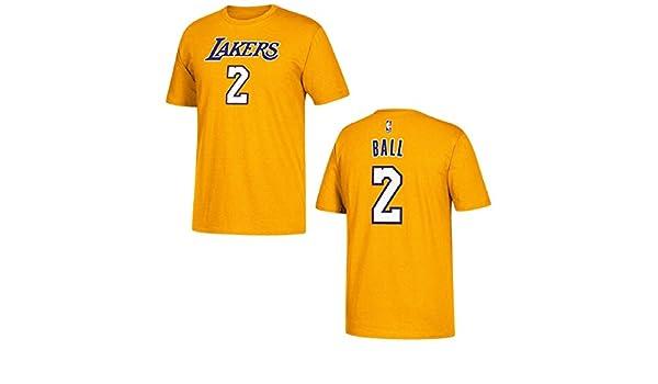 Camiseta adidas del jugador de Los Angeles Lakers Lonzo Ball - 3720A-7329Q6L, camisa, XXL, Dorado: Amazon.es: Deportes y aire libre