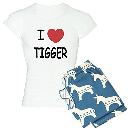 CafePress - I Heart Tigger - Womens Novelty Cotton Pajama Set, Comfortable PJ Sleepwear