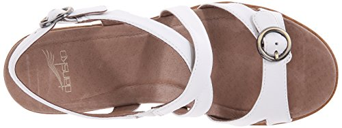 Sandal Women's Wedge Leather White Dansko White Julie Leather dgqXwnpZ