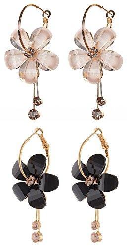 Shining Diva Fashion Gold Plated Stylish Fancy Party Wear Earrings For Women & Girls – Combo of 2(Multi-Colour…