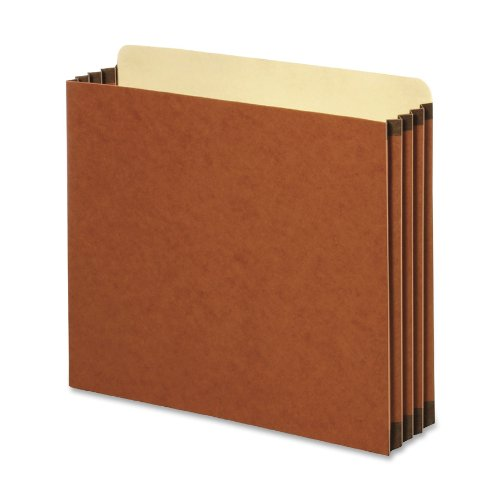 Globe-Weis/Pendaflex Redrope File Cabinet Pockets, 5.25 Inch Expansion, Letter Size, 10 Pockets Per Box, Brown ()