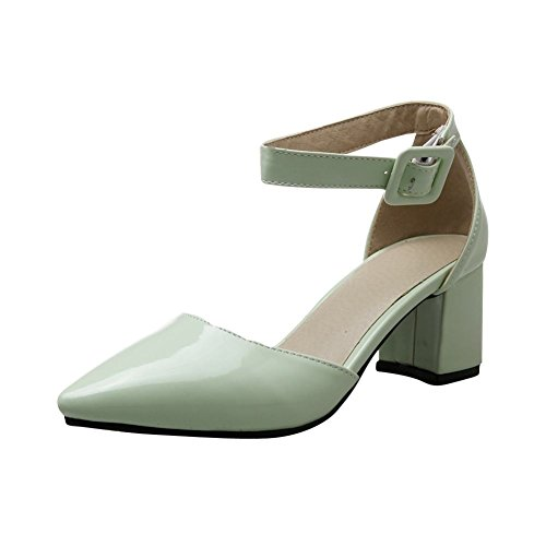 Mee Shoes Damen ankle Boots Schnalle Knöchelriemchen Pumps Grün