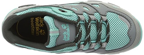 Jack Wolfskin Mtn Attack 2 K, Zapatos de Low Rise Senderismo Unisex Niños Turquesa (Fresh Breeze)