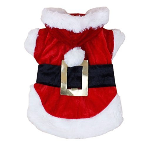 Idefun New Santa Dog Costume Christmas Pet Clothes Winter Hoodie Coat Clothes for Dog Pet Clothing Chihuahua Yorkshire Poodle (M)