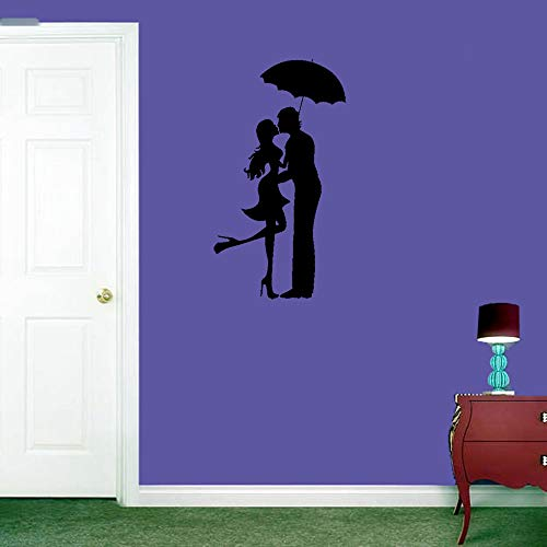 Wall Stickers Quotes Vinyl Art Room Mural Posters Love Romantic Couple Umbrella Pop Cool for Living Room -