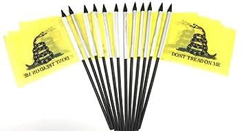 "4/""x6/"" Gadsden White Snake Stick Flag Table Staff Desk Table"