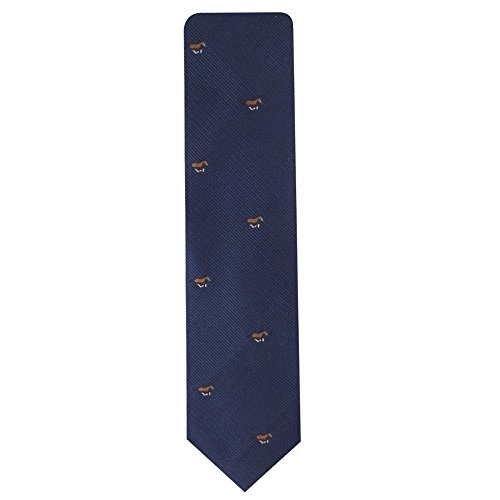 Horse Racing Tie | Gift for Men | Work Ties for Him | Birthday Gift for Guys (Brown Horse) by AUSCUFFLINKS (Image #1)
