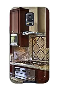 ElsieJM Snap On Hard Case Cover Kitchen With Cherry Cabinets And Granite Backsplash And Countertops Protector For Galaxy S5