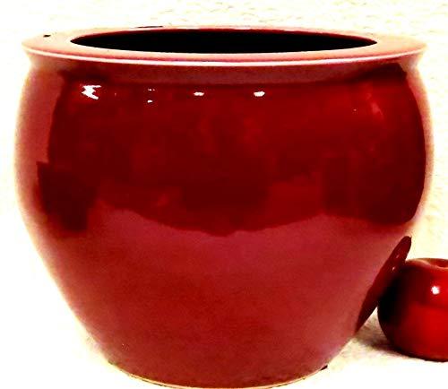 BlueWhiteVases Oxblood Red Porcelain Fish Bowl 10