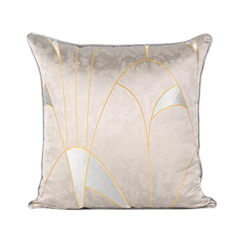 D 50x50cm Oreiller néo-classique moderne, oreiller abstrait d'or de sofa de chambre à coucher de coussin américain de luxe (Couleur   D, taille   50x50cm)