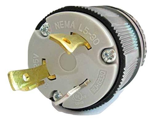 NEMA L5-30P Locking Plug 120V, 30A