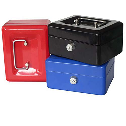 Labu Store Portable Safe Box Money Jewelry Storage Collection Box Home School Office Compartment Tray Lockable Security Box Size M