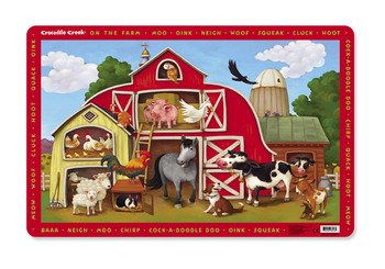 Crocodile Creek On The Farm Placemat ()