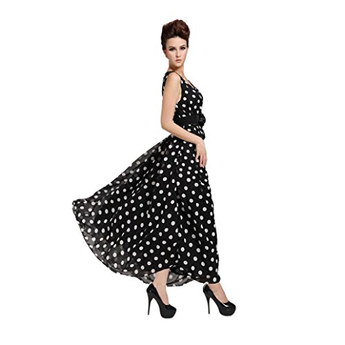 Digood Chiffon Evening Womens Dress Dots Long Ladies Party Dress Bodycon Polka rRgqIRw