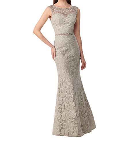 Steine Kleid Dunkel Ballkleider mit Partykleider Promkleider Champagner Abendkleider Charmant Spitze 2018 Meerjungfrau Damen RxCqZq1