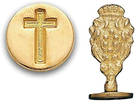 Brass Wax Seal Stamp Cross 821H