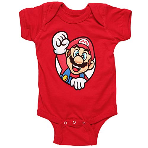Nintendo Super Mario Character Baby Romper - Mario (6 Month) Red