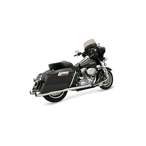 (06-16 HARLEY FLHX2: Bassani Xhaust +P Bagger Stepped True-Duals Exhaust With Power Curve (Chrome With Polished End Caps/Megaphone-Style Muffler))