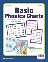 Abeka Basic Phonics Charts (Grades 1-3) 2016 (Best Homeschool Phonics Curriculum)