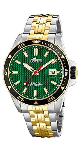 Lotus Reloj Analógico para Hombre de Cuarzo con Correa en Acero Inoxidable 18652/2: Amazon.es: Relojes