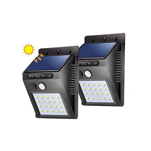 Solar Power Wall Light 2pcs 20 PIR Motion Sensor Waterproof Light Street Yard Path Home Garden Security Lamp,2pcs