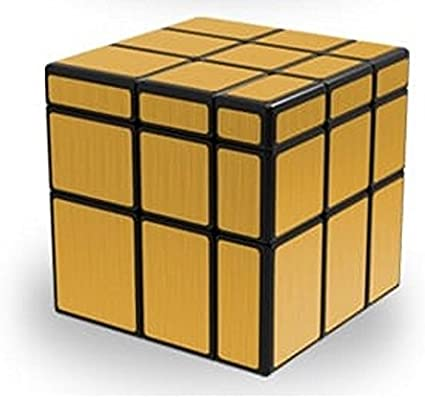 AGAMI 3x3 Mirror Gold, High Speed QIYI Rubiks Cube 3D Puzzle Rubix Cube