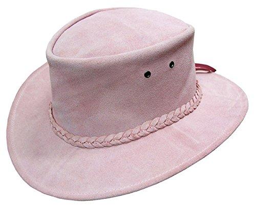 Kakadu Suede Hat - Kakadu Traders Australia Suede Colonial Hat, Pink, Medium