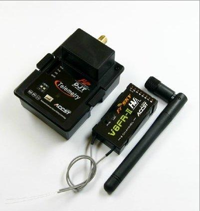 FrSky 2.4G RF DJT Module two-way V8FR-II HV Receiver Combo