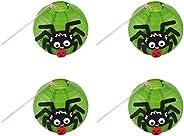 STOBOK Lanterna de Papel Do Dia Das Bruxas 21X21cm 4 Pcs de Papel Crianças Lanterna de Aranha Diy Lanterna de