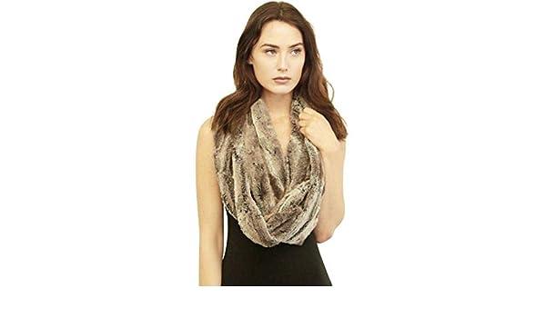 Redacel Fur Collar Scarf for Women Faux Fur Scarves Wrap Collar Shrug for Fall Winter Coat Dress