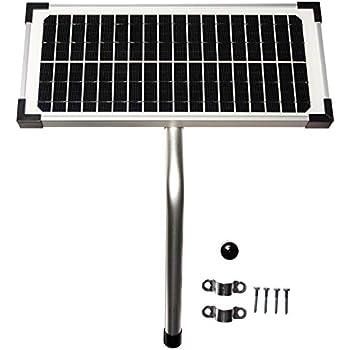 10 Watt Solar Panel Kit Fm123 For Mighty Mule Automatic Gate Openers Gate Hardware