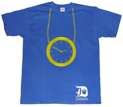 Dibbs Clothing Men's Flavour Flav Public Enemy Clock T-Shirt XX-Large -