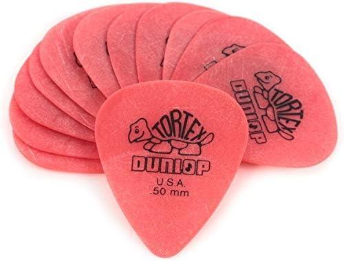 Jim Dunlop Tortex - Set de 12 púas para guitarra / Grosor: 0.50 mm (Paquete de 12)