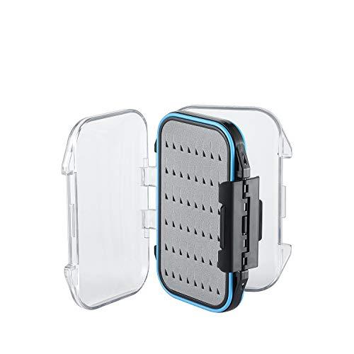 Magreel Two-Sided Waterproof Fly Box Easy Grip Foam Jig Fly Fishing Box