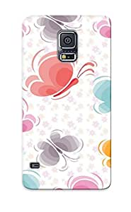 Hot Tpu Cover Case For Galaxy/ S5 Case Cover Skin Design - Butterfly Pattern