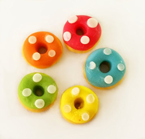 5 pcs Dollhouse Miniature Food Bakery Colorful Donut from The Best Buy