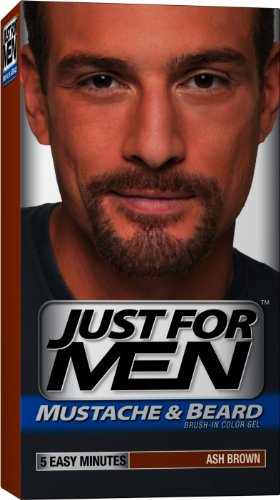 Just For Men Brush-In Gel de couleur, M-20, Ash Brown, 1 Kit, (pack de 3) - Emballage May Vary
