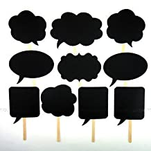 10 Pcs Colourful Party Props Photo Booth on Sticks DIY Funny 'Engagement Wedding Party Special by Trimming Shop