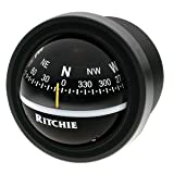 Ritchie Navigation V-57.2 Explorer Dash-Mount Compass, Black with Black Dial