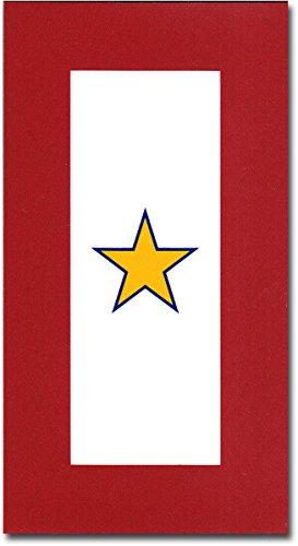 Service Star Magnet - Gold Star