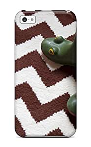 Chris Marions's Shop For Iphone 5c Fashion Design White And Brown Zigzag Rug And Green Frog Rain Boots Case 4727584K76046847