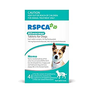 RSPCA Allwormer Small Dog Tablets, 4 Count Click on image for further info.