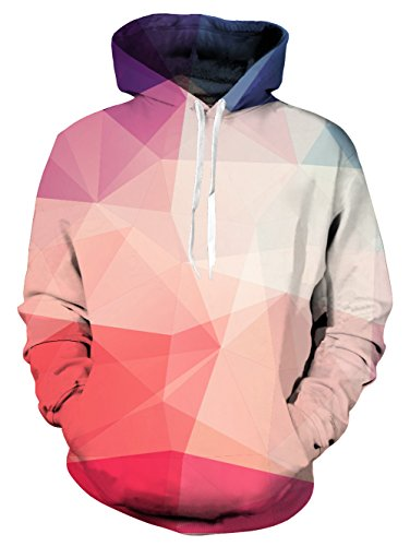 d181b65b0 Galleon - Uideazone Men Women Geometric Shape 3D Print Pullover Hoodie Cool  Hooded Sweatshirts Black