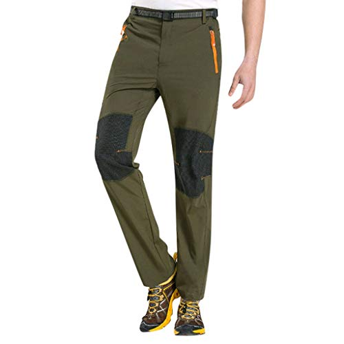 UOFOCO Quick-Drying Outdoor Waterproof Pants Hiking Ski Climbing Tactical Trousers Green