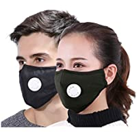 Xtore® PM 2.5 Ultra-Comfortable Anti Pollution Mask | Military Grade Quality | Breathing Valve | Anti Dust - Prevents Particulate matter,Allergy/Asthma/Virus/Flu | Premium Quality - (Pack of 2)