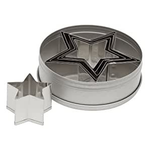 Ateco 7805 Plain Edge Star Cutters in Graduated Sizes, Stainless Steel, 6 Pc Set