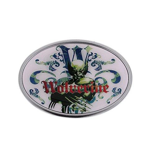 Marvel Comics Jewelry Wolverine Green Enamel Motif Design Belt Buckle (Fan Belt Buckle)