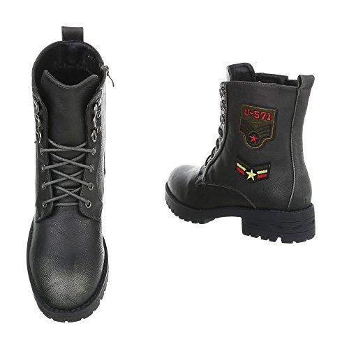 bottines Chaussures et Ital lacet femme H Gris Bloc 3 Bottes Design Bottines a ZttfqgBw